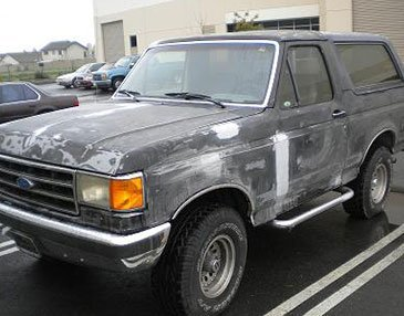 bronco before restoration