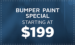 $199 Bumper Paint Special Coupon