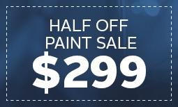 Half Off Paint Sale - $299 Coupon