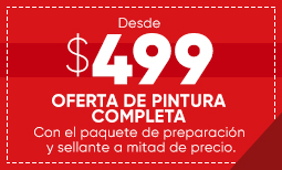 $499 Overall Paint Sale - Spanish Coupon
