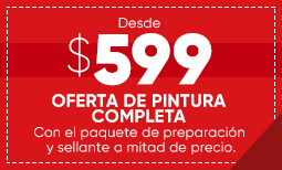 $599 Overall Paint Sale - Spanish Coupon