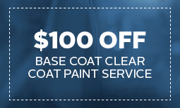 $100 Off Base Coat Paint Service Coupon