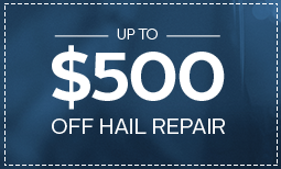 Up to $500 Off Hail Damage Repair Coupon