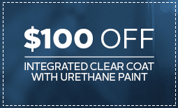 $100 Off Integrated Clear Coat with Urethane Paint Coupon