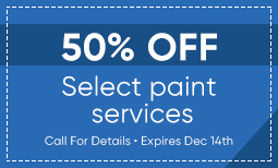 50% Off Select Paint Services Coupon
