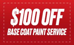 $100 Off Base Coat Paint Service Coupon