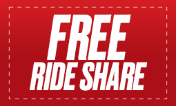 Free Ride Share (Pick Up /Drop Off) Coupon