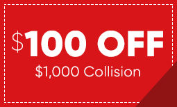$100 Off $1,000 in Collision Repair Coupon