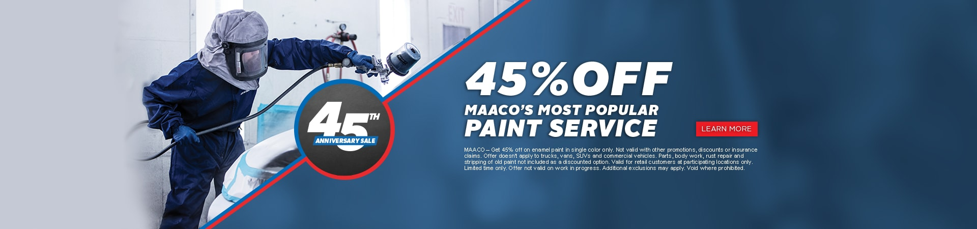 Maaco: 45th Anniversary - 45% off paint service